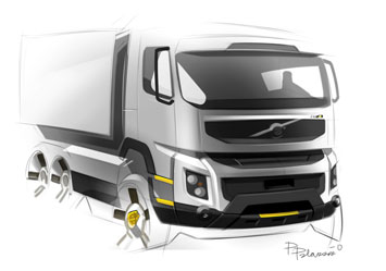 Volvo Truck Design Sketch