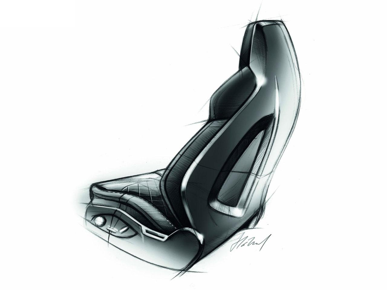 Audi A7 Sportback Seat Design Sketch Car Body Design