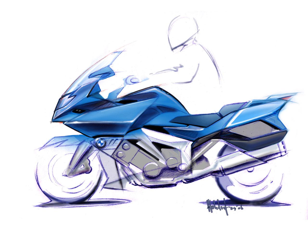 Bmw K 1600 Gt Design Sketch Car Body Design