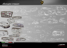 Lamborghini Persa First Sketches by Mohammad Monfared