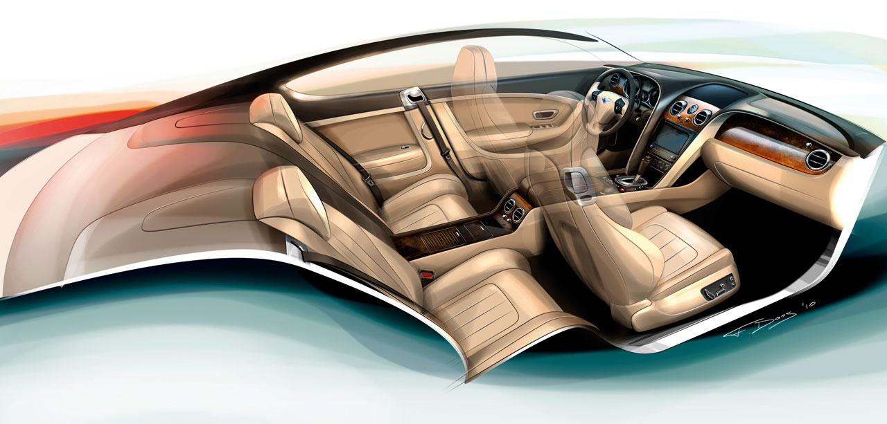 Bentley Continental Gt Interior Design Sketch Car Body Design