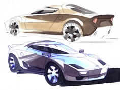 Lancia New Stratos: design sketches and updates