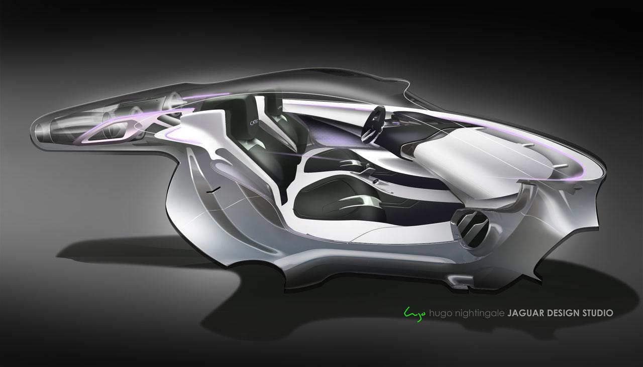 Jaguar C X75 Concept Interior Design Sketch Car Body Design