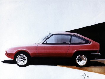 1972 Ford Fiesta Design Sketch