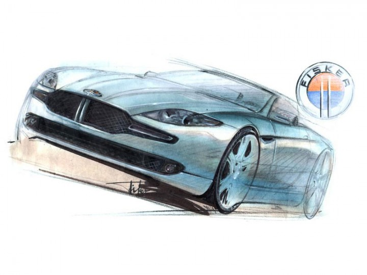 Fisker Coachbuild unveils the first sketch of 'Tramonto' Concept