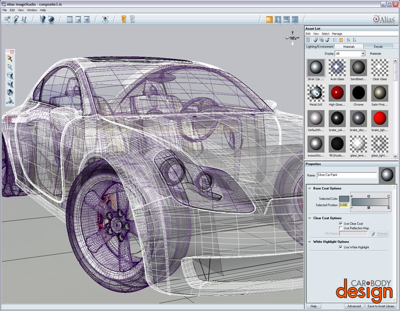 Alias Image Studio Screenshot Car Body Design
