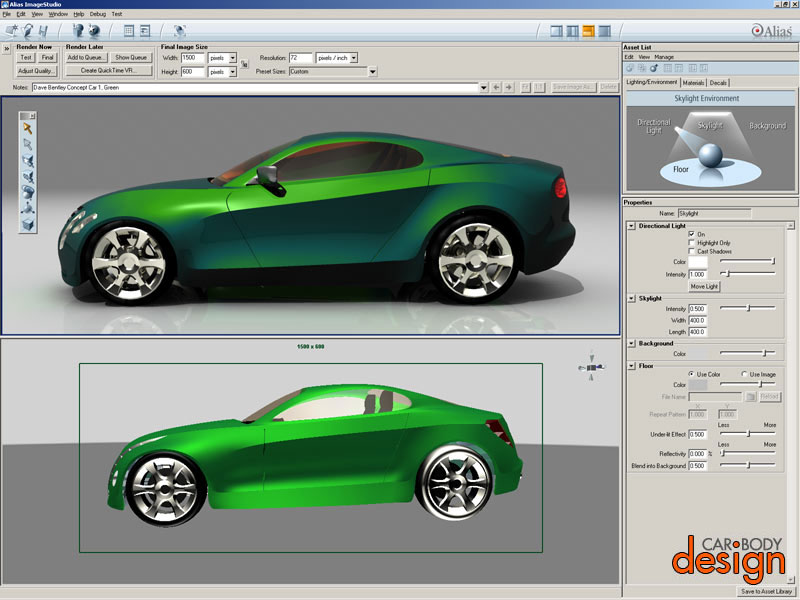 Digital Technologies In Car Design Digital Drawings And 3d Renderings Car Body Design