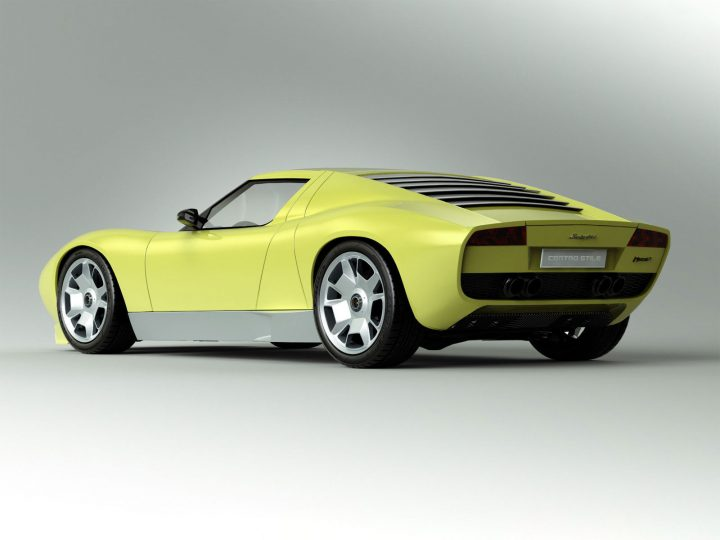Lamborghini Miura Concept Car Body Design