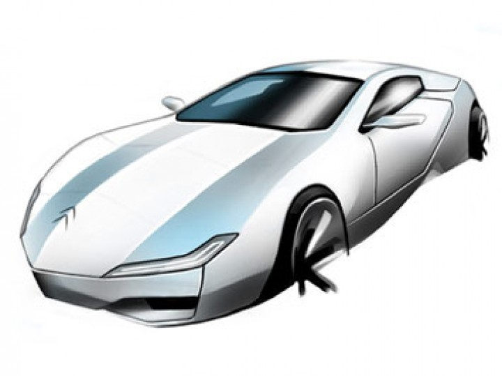 Concept car rendering in Photoshop