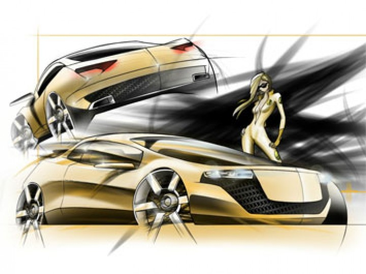 Car digital painting in Autodesk AutoStudio