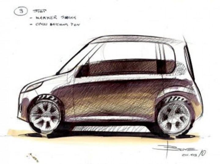 How to draw a car in side view: basic steps