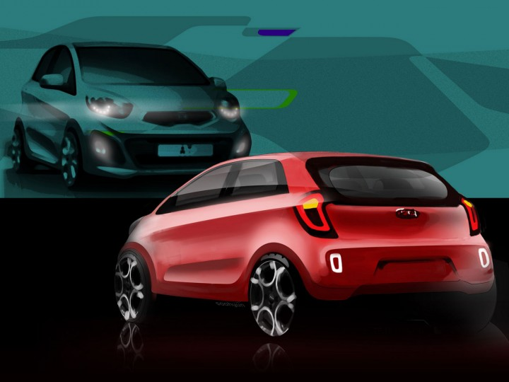Kia previews the new Picanto with design sketches