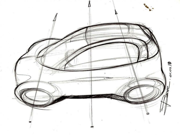 How to sketch a car in top view