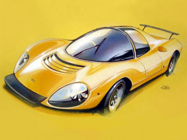 Ferrari on Yellow Construction Paper Tutorial