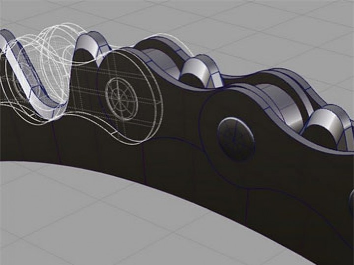 How to model gears and chains in Autodesk Alias
