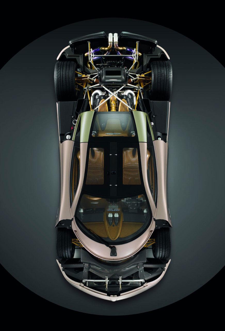 Pagani Huayra Chassis And Engine Car Body Design