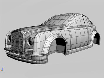 Rétro-styled car body 3D model