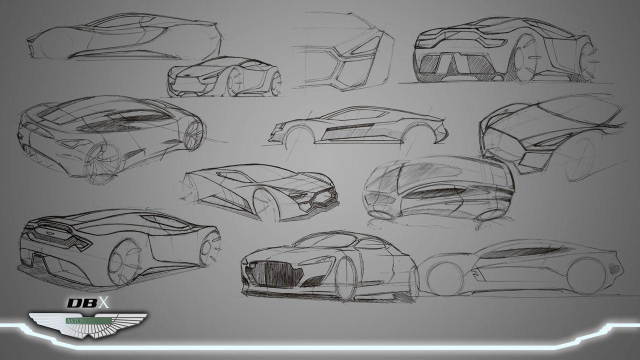 Aston Martin Dbx Concept Sketches Car Body Design