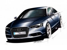 Audi A6: design sketches