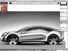 SketchBook Designer 2011 combines freehand drawing and vector workflows