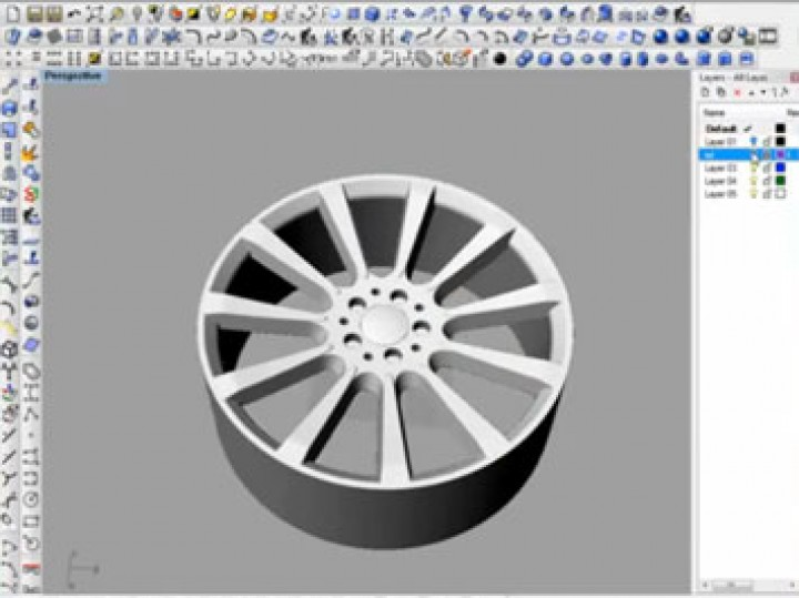 NURBS modeling a Maybach wheel