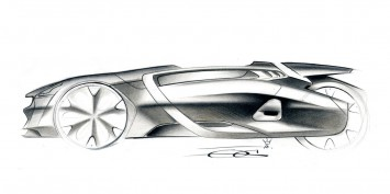 Peugeot EX1 Design Sketch
