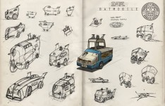 Batmobile Sketches by Tim Jester