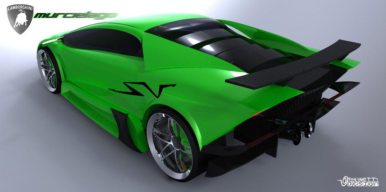 Lamborghini Murcielago Concept Rendering Car Body Design
