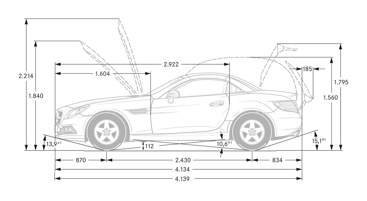Mercedes Benz Slk Dimensions Blueprint