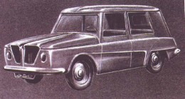 1956 Renault Project 350 Design Sketch