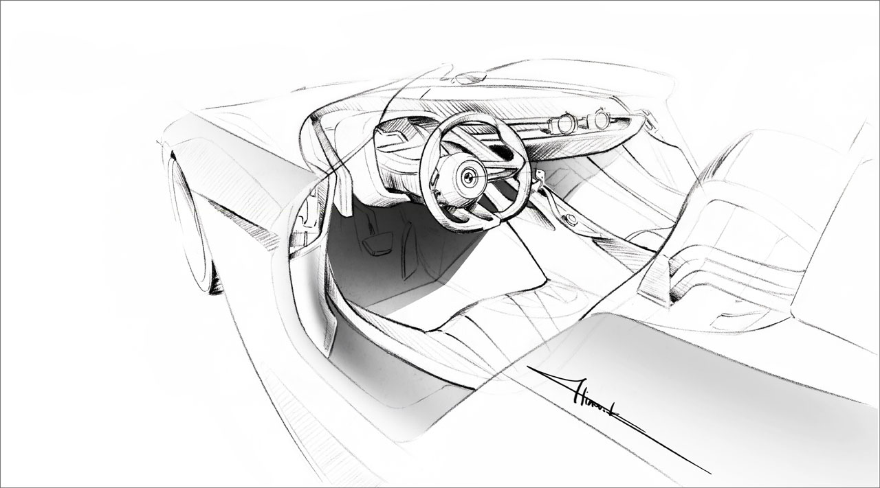 Bmw 328 Hommage Concept Interior Design Sketch Car Body Design