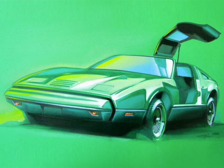 Bricklin SV1 on Canson