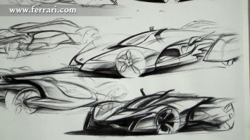 IAAD Ferrari Design Sketches