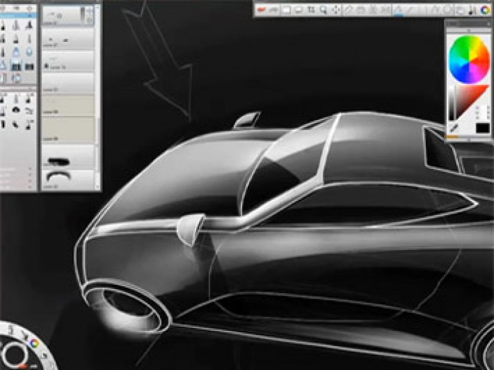 SketchBook Pro Car Sketching Demo
