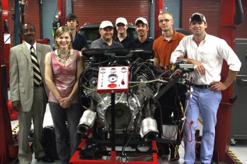 Infiniti QX56 engine and Tennessee students