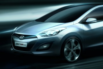 Hyundai i30 design sketch
