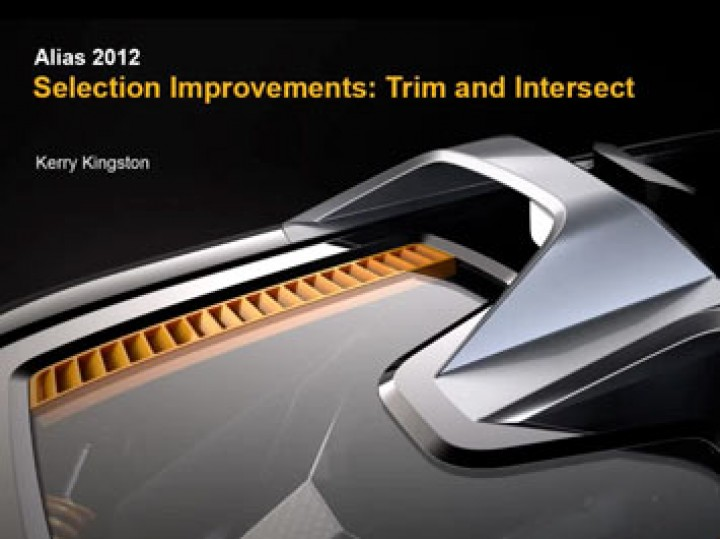Autodesk Alias 2012 Intersect and Trim
