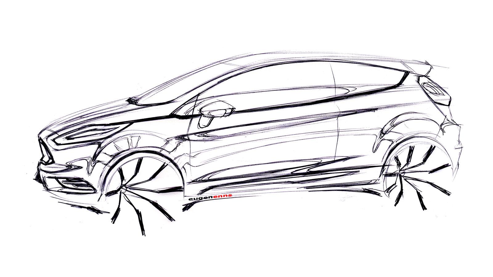 Ford Fiesta St Concept Design Sketch Car Body Design