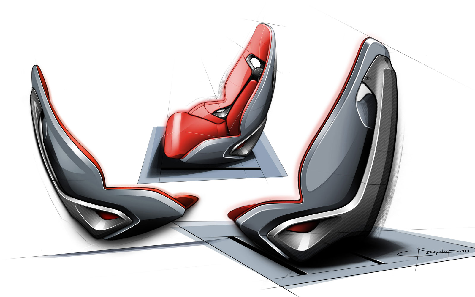 Jaguar C X16 Concept Seat Design Sketch Car Body Design