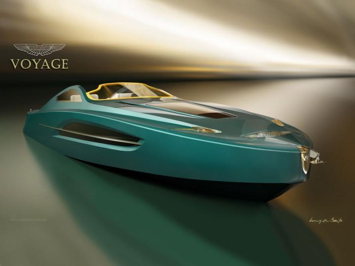 Aston Martin Voyage 55 Boat Concept Car Body Design