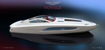 Aston Martin Voyage 55 Boat Concept Rendering