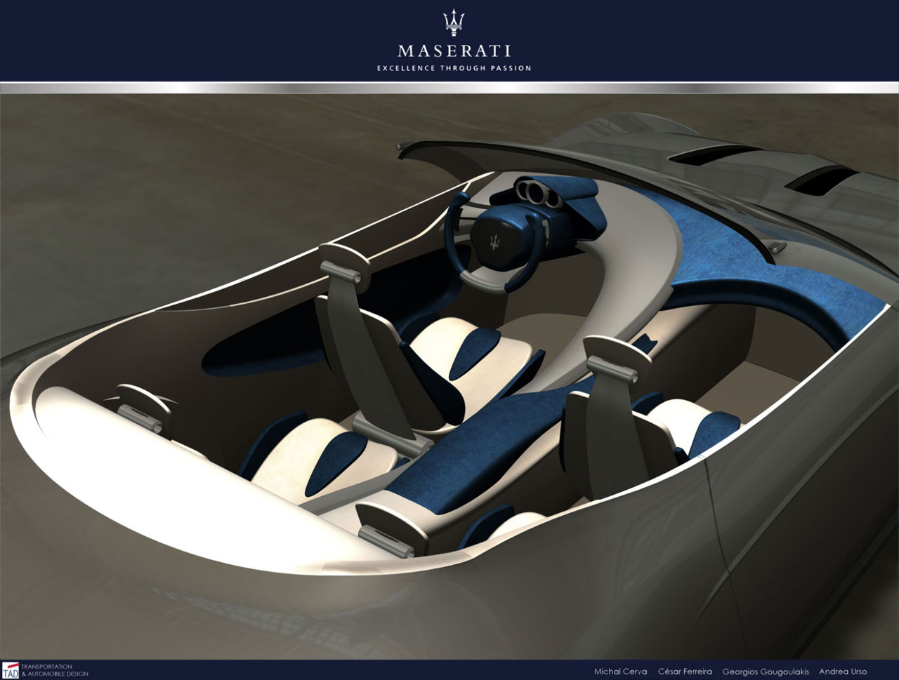 Maserati Granturismo Concept 2020 Interior Car Body Design