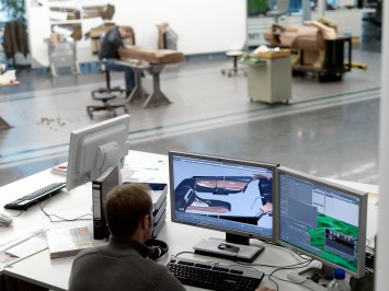 Stefan Bergmann working on the CAS model of the BMW 6 Series Gran Coupe