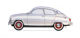 1960 Saab 96 Design Sketch