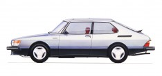1984 Saab 900 Turboo 16S sketch
