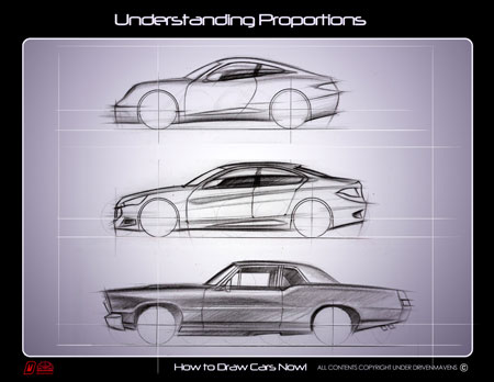 How To Draw Cars Now Kickstarter Proportions Book Cover Car Body