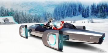 Santa Sleigh by Land Rover