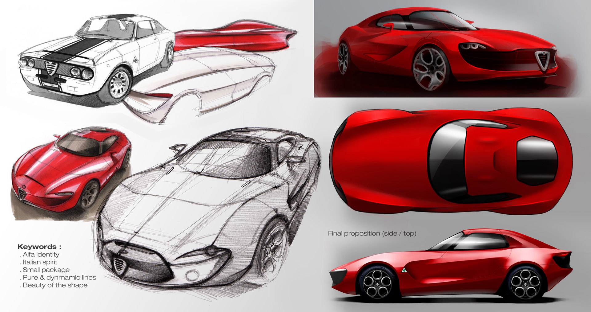 Alfa Romeo Giulia Concept Design Sketches Car Body Design
