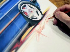 Hot Rod Designer Chip Foose sketches the VW Golf MkII