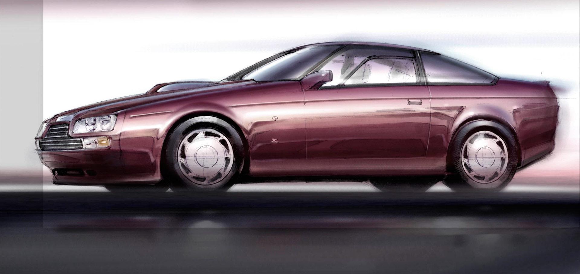 1986 Aston Martin V8 Vantage Zagato Design Sketch Car Body Design